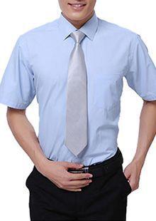 男士短袖标准领衬衫CS-12