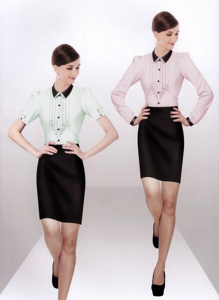 女式衬衫HB-01模特图