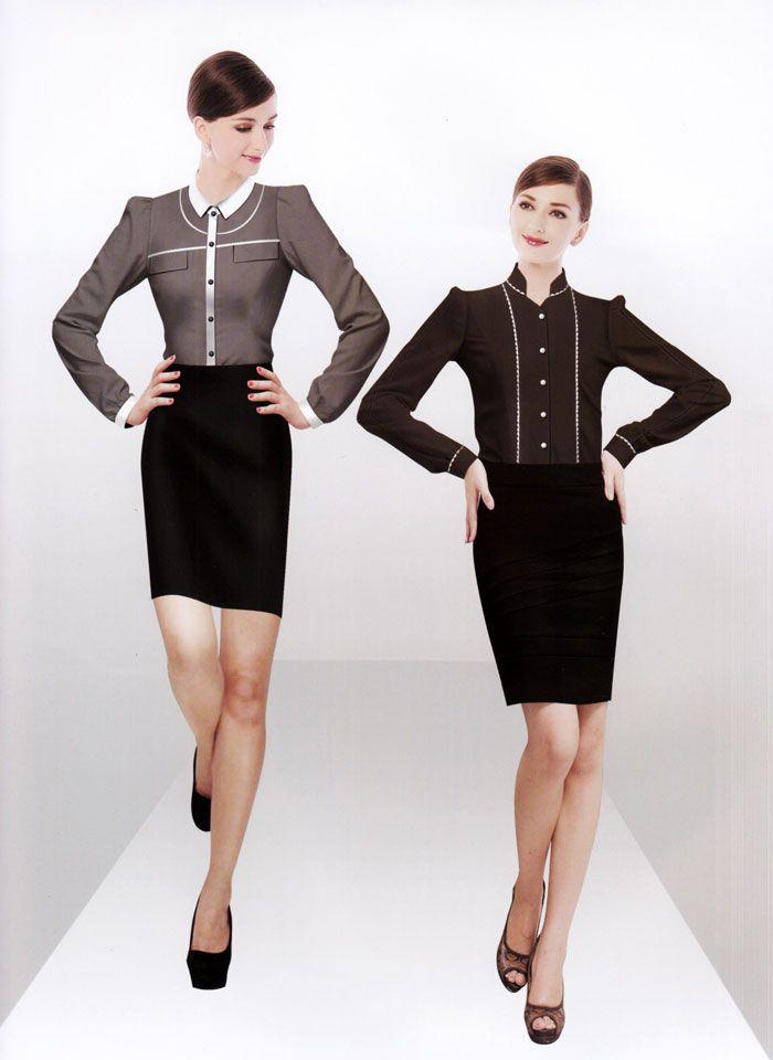 女式衬衫CS-03模特图