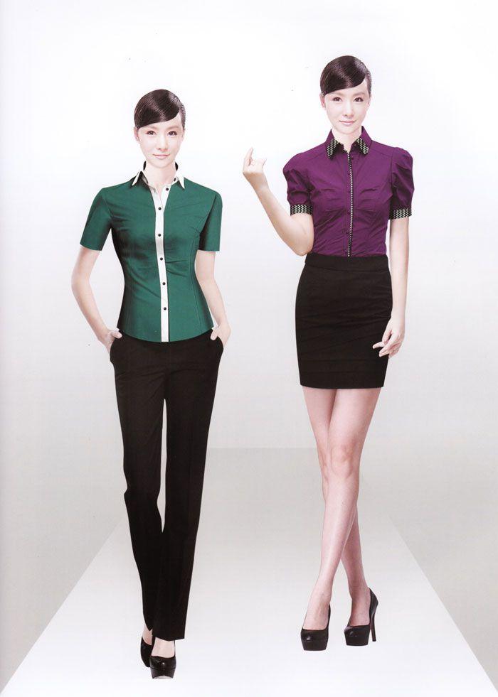 女式衬衫CS-05模特图