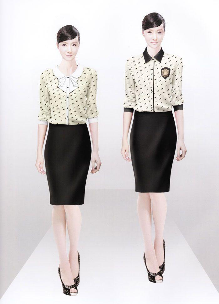 女式衬衫CS-06模特图
