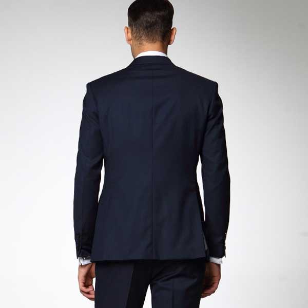 男士修身西装套装_职业装男士西服套装 藏蓝色XF-18 - 黑马服装