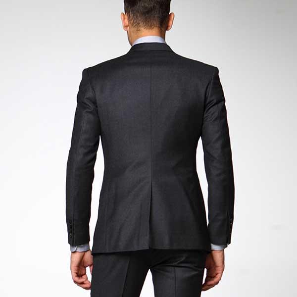 男士修身西装套装_职业装男士西服 韩版款式XF-20 - 黑马服装