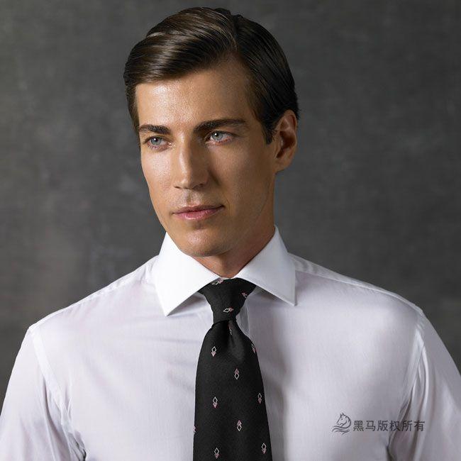 男士西服套装衬衫前胸