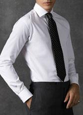 男士八字领衬衫款式图CS-09