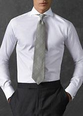 男士开领衬衫 白色CS-10