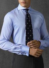 男士开领衬衫蓝色衬衫CS-11