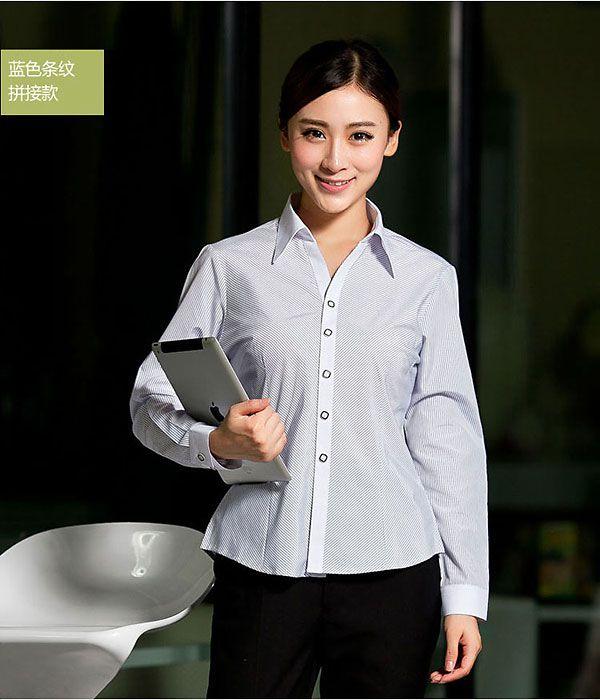 黑色条纹拼接衬衫