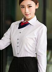 女式长袖大尖领衬衫CS-14