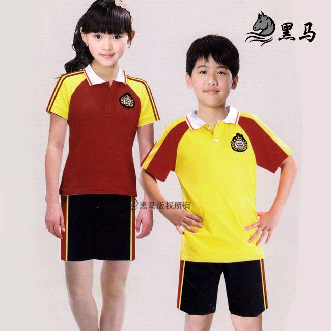 夏季短袖校服款式图片