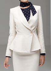 职业女西服套装米白色M-17