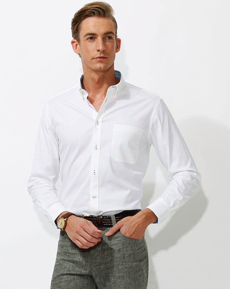 男士长袖衬衫A-02模特图