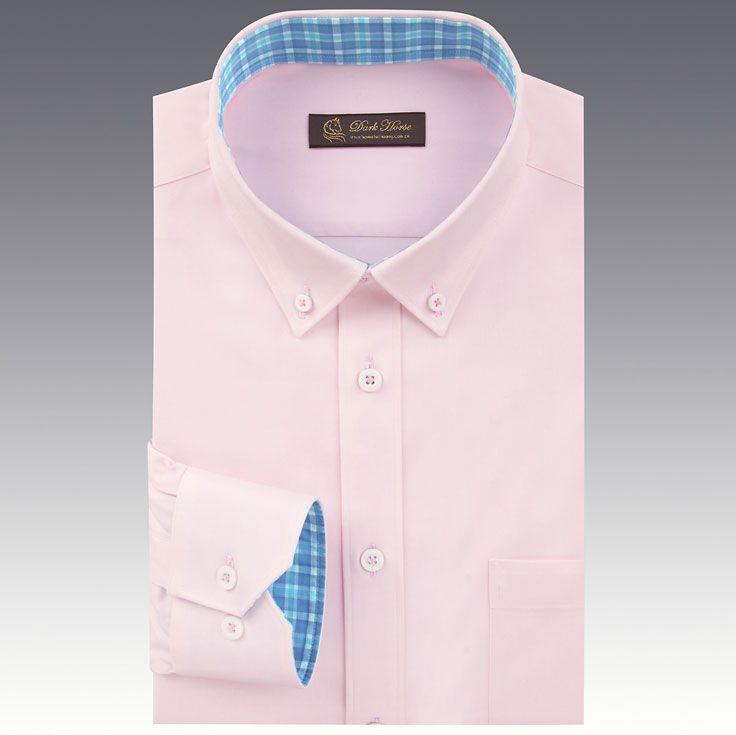 男士粉色长袖衬衫A-03效果图