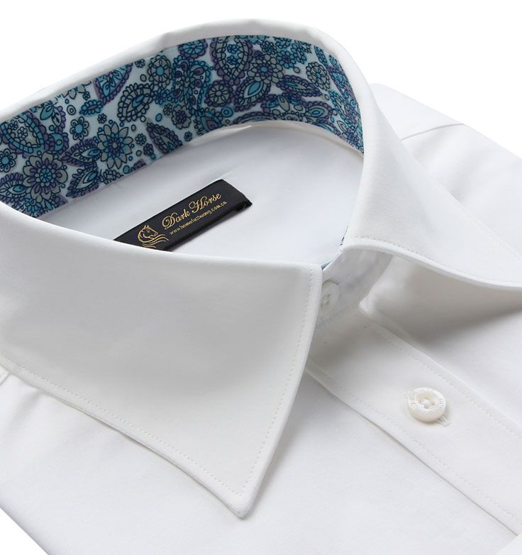 男士长袖衬衫A-04领子细节图