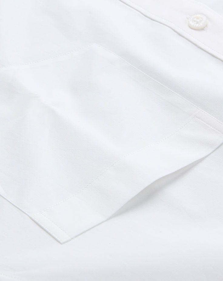 男士长袖衬衫A-04左胸兜细节图