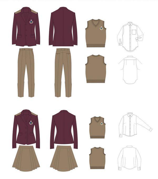 高中生校服设计图01