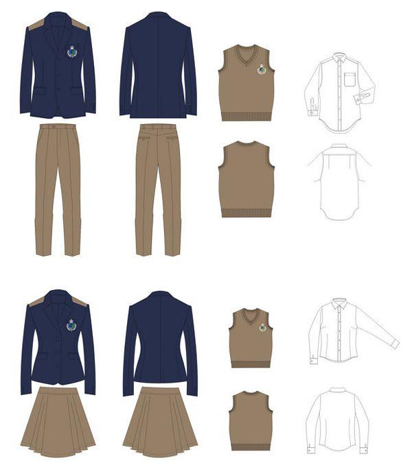 高中生校服设计图02