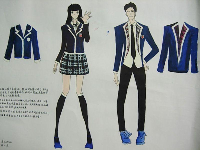 手绘校服设计稿05