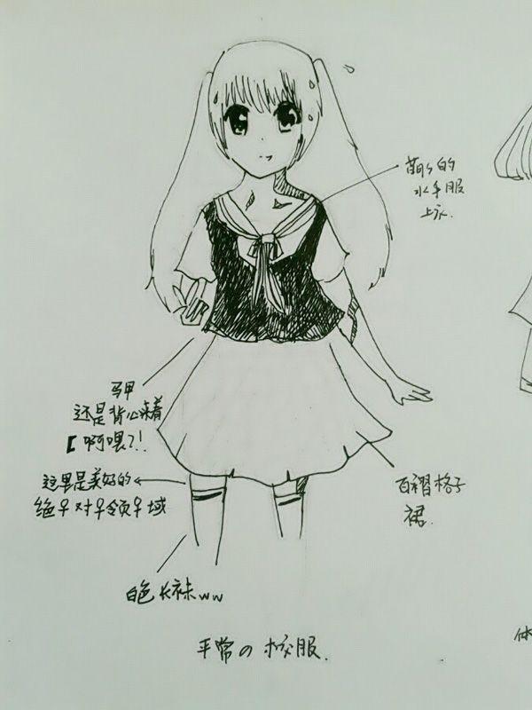 小学生校服设计手绘稿01