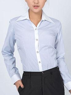秋季女式大尖领衬衫CS-16