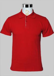 深红色夏季短袖T恤现货