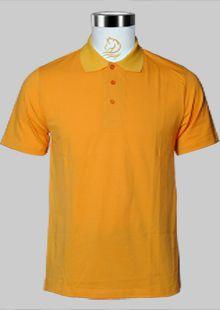 橘黄色夏季短袖T恤现货
