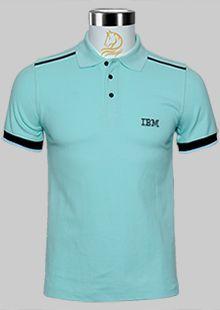 IBM蓝色夏季短袖T恤