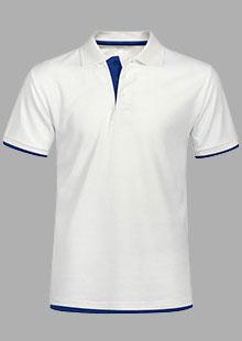 白色时尚POLO衫丨拼色POLO衫