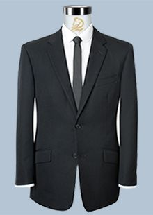 高级男士黑色商务西服职业装