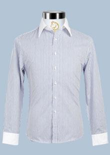 罗蒙男士长袖衬衫商务纯棉衬衣