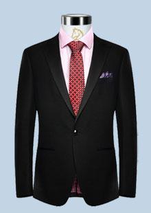 男装一粒扣修身西服