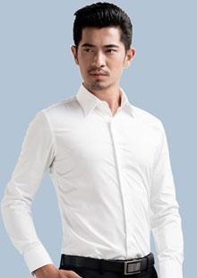 免烫纯色白衬衫 男长袖商务修身款韩版职业正装衬衫