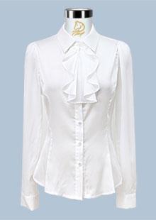 白领修身领花女士衬衫