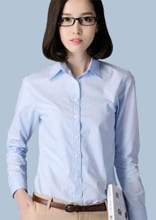 衬衫女长袖小方领职业修身衬衣