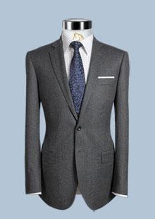 西服套装 灰色修身商务套装正装