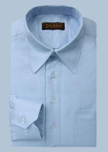 男士长袖标准领衬衫
