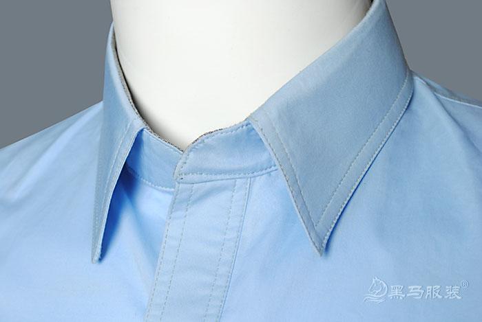 汉能工作服-衣领细节图