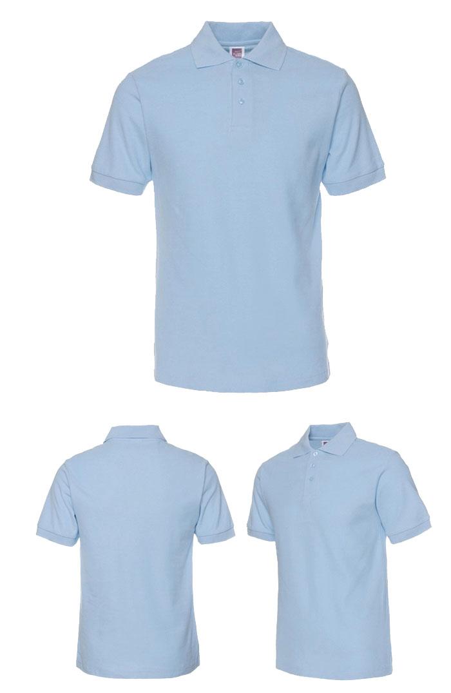 天蓝色T恤衫