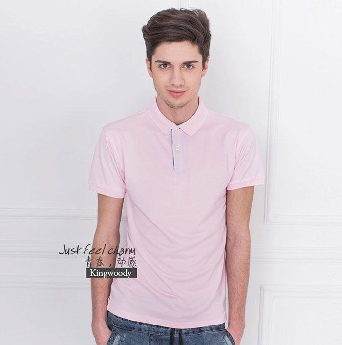 粉红色男士POLO衫图片