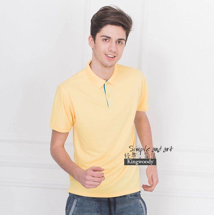 黄色男士POLO衫图片