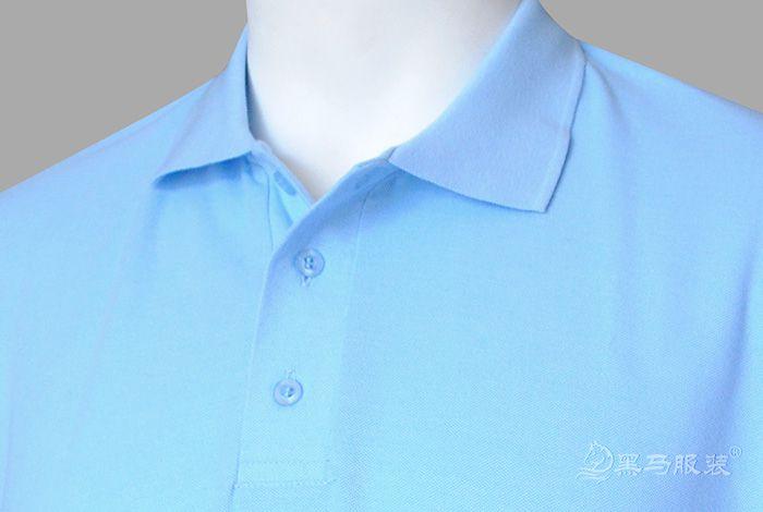 纯棉短袖polo衫前胸效果图