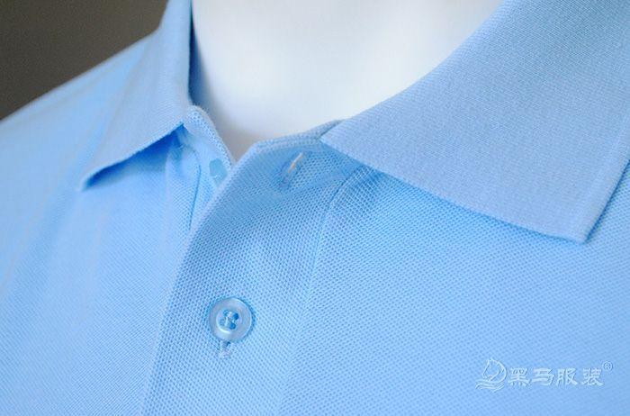 纯棉短袖polo衫衬衫领细节图
