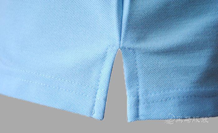 纯棉短袖polo衫下摆开叉细节图