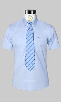 男士标准领型短袖衬衫