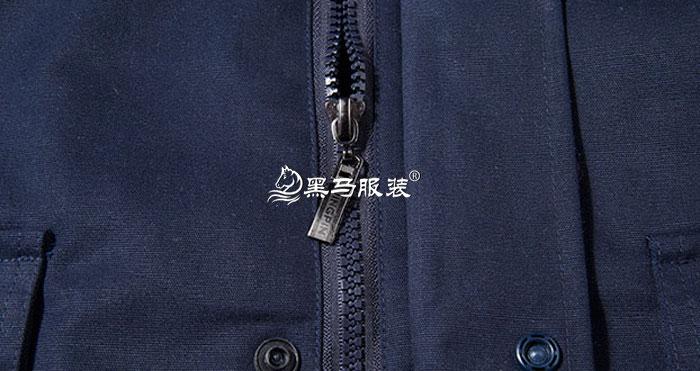 门襟拉链细节