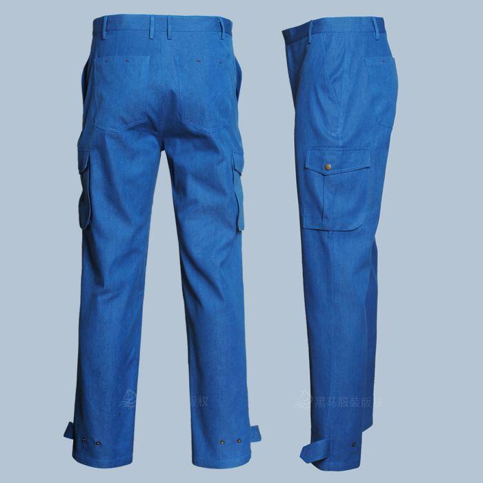 中铝工装裤子侧面效果图